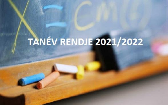 Tanév rendje 2021/2022