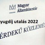 Nyugdíj utalás 2022 – Időpontok, dátumok!